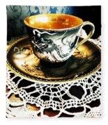 Asian Teaware Fleece Blanket