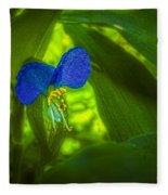 Asiatic Dayflower Fleece Blanket