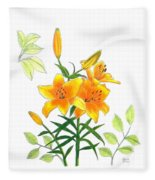 Asiatic Hybrid Lily Fleece Blanket