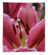 Asiatic Pink Fleece Blanket