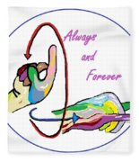 Asl Always And Forever Fleece Blanket