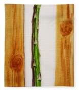 Asparagus Tasty Botanical Study Fleece Blanket