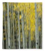 Aspen Abstract  Fleece Blanket