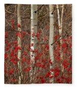 Aspen And Berries Fleece Blanket