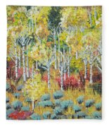 Aspen And Sage  Fleece Blanket