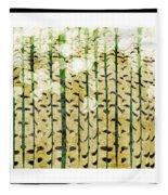 Aspen Colorado Abstract Square 3 Fleece Blanket
