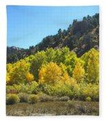 Aspen Grove In The Fall Fleece Blanket