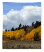 Aspen Hillside Fleece Blanket