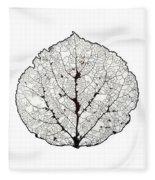Aspen Leaf Skeleton 1 Fleece Blanket