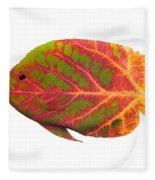 Aspen Leaf Tropical Fish 1 Fleece Blanket