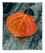 Aspen Leaf  Fleece Blanket