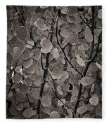 Aspen Leaves Fleece Blanket