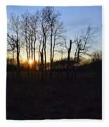 Aspen Prairie Sunset Fleece Blanket