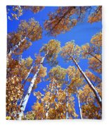 Aspen Tree Tops Fleece Blanket