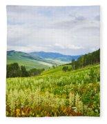Aspen Trees And Wildflowers Fleece Blanket