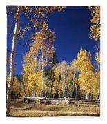 Aspens In Fall Fleece Blanket