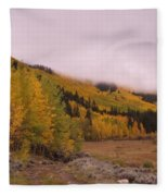 Aspens In The Mist Fleece Blanket