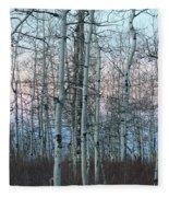 Aspens In Twilight Fleece Blanket