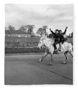 Aspiring Cowboys In Dublin 1961 Fleece Blanket