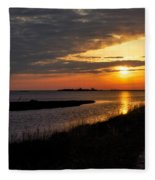 Assateague Sunrise Vertical Fleece Blanket