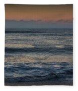 Assateague Waves Fleece Blanket