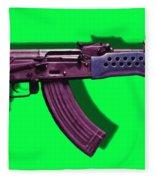 Assault Rifle Pop Art - 20130120 - V3 Fleece Blanket