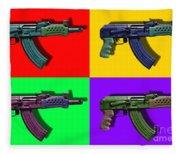 Assault Rifle Pop Art Four - 20130120 Fleece Blanket