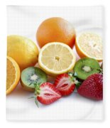 Assorted Fruit Fleece Blanket
