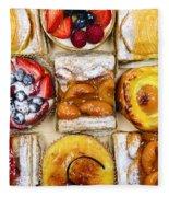 Assorted Tarts And Pastries Fleece Blanket