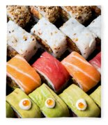 Assortment Of Sushi Fleece Blanket