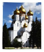 Assumption Cathedral Yaroslavl Russia Fleece Blanket
