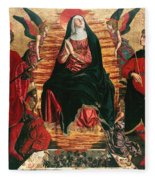 Assumption Of Mary With Sts Minias And Julian Fleece Blanket