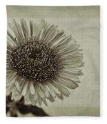 Aster With Textures Fleece Blanket