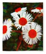 Asters Bright And Bold Fleece Blanket