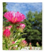 Asters Fleece Blanket
