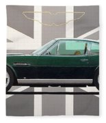 Aston Martin V8 Vantage Fleece Blanket