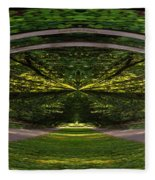 Astral Garden Entrance Fleece Blanket
