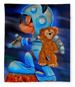 Astronaut Training Bear Fleece Blanket