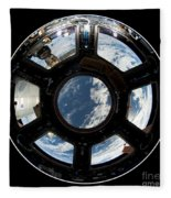 Astronauts View From The Space Station Fleece Blanket