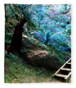At Home In Her Forest Keep - Pacific Northwest Fleece Blanket