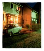 At Night In Thuringia Village Germany Fleece Blanket