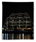 At Night On The  Delaware River - The Mushulu Fleece Blanket