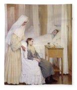 At Notre-dame Du Perpetuel Bon Secours Hospital Fleece Blanket