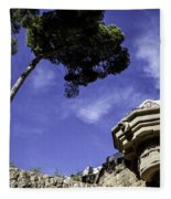At Parc Guell In Barcelona - Spain Fleece Blanket