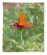 At Rest - Gulf Fritillary Butterfly Fleece Blanket