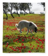 At Ruchama Forest Israel 1 Fleece Blanket