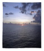 At Sea -- A Sunrise Begins Fleece Blanket