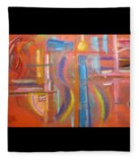 At The Crossroads Fleece Blanket