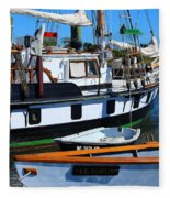 At The Docks Fleece Blanket