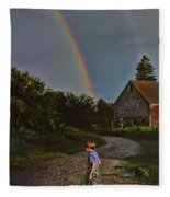 At The End Of A Rainbow Fleece Blanket